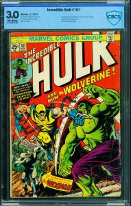 Incredible Hulk #181 1974  CBCS 3.0 marvel comic-1st Wolverine