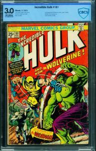 Incredible Hulk #181 1974  CBCS 3.0 marvel comic-1st Wolverine