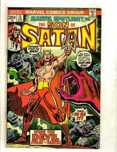 7 Marvel Spotlight Comic Books Feat. Son Of Satan # 13 14 15 16 17 18 19 RS1