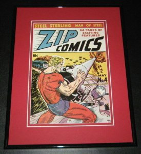 Zip Comics #4 Framed Cover Photo Poster 11x14 Official Repro