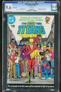 New Teen Titans Keebler Edition CGC 9.6 -Drug issue-Promo- 0206992017