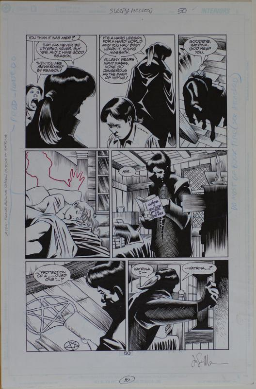 KELLEY JONES / JASON MOORE original art, SLEEPY HOLLOW pg 50, 11x17, 2000