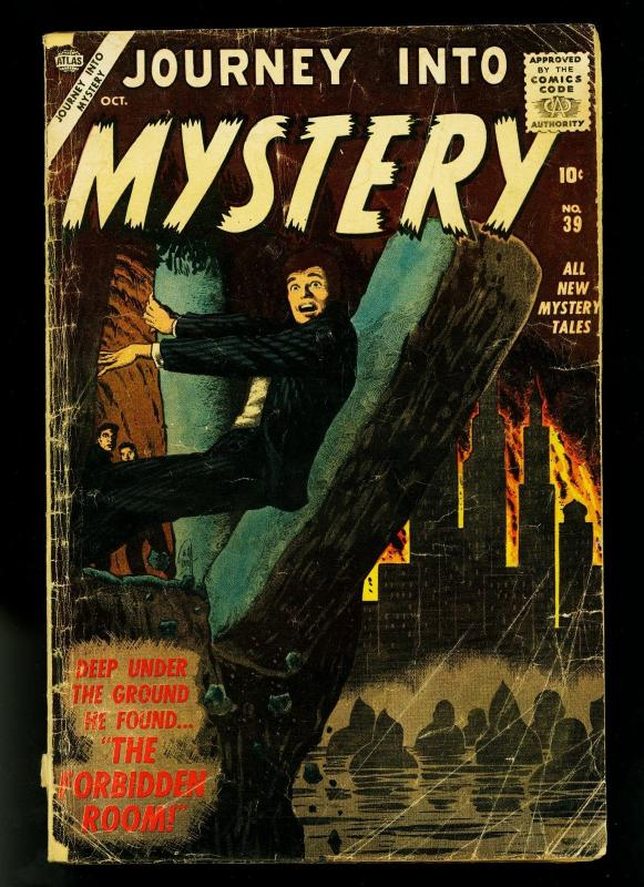 Journey Into Mystery #39 1956- 1st Silver Age issue- Wood art- G-