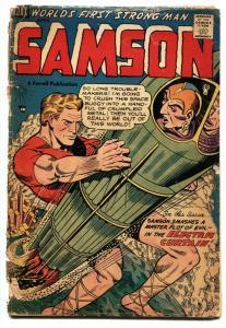 Samson #12 First issue-1955 - Wonder Boy- Rocket cover