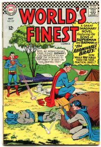 WORLDS FINEST #157 1966-BRATS!!!- SONS BATMAN-SUPERMAN VG