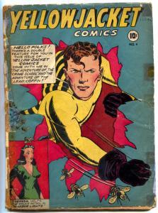 Yellowjacket #4 1944 -Golden Age- Diana Huntress-horror- restored P/FR