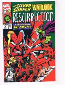 Silver Surfer/Warlock Resurrection #3 VF Marvel Comic Book May DE41 AD18