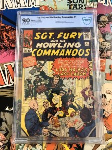 Sgt. Fury & His Howling Commandos #4 CBCS 9.0 VF/NM jack kirby SILVER age war