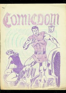 COMICDOM FANZINE #2-ALAN WEISS COVER-MARKET REPORT-1964 VG