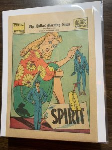 The Spirit Comic Book Section Newspaper Very Fine Or Better 1941 September 7