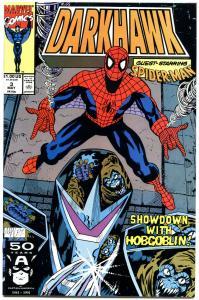 DARKHAWK #3, NM+, Spider-man, HobGoblin, Mike Manley, Prey, 1991