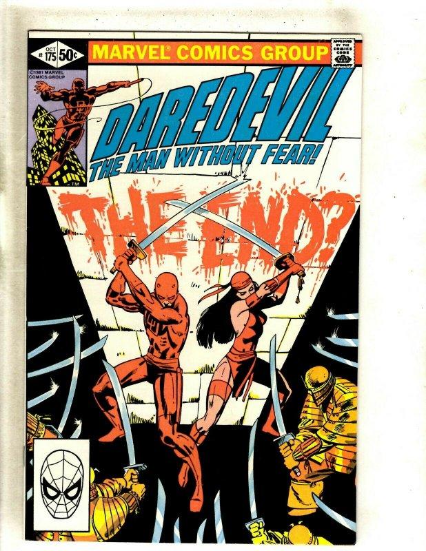 Daredevil # 175 NM Marvel Comic Book Frank Miller Elektra Bullseye Hand HJ9