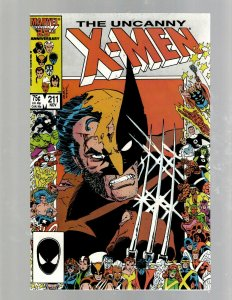 Uncanny X-Men # 211 NM Marvel Comic Book Beast Angel Cyclops Magneto SM19