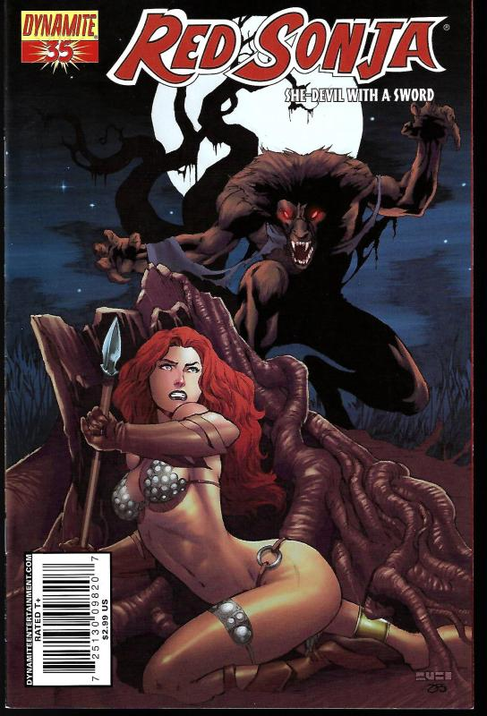 Red Sonja #35 (Dynamite Entertainment)- Mel Rubi Cover