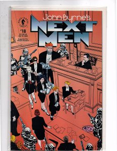 Dark Horse Comics John Bryne's Next Men #18 Next Men found guilty.
