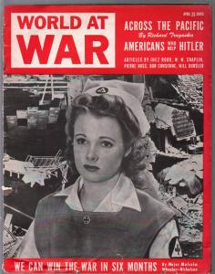 World At War #1 4/1943-1st issue-Americans Who Help Hitler-Nazi terror-G/VG