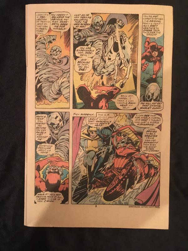 John Byrne original art; hand drawn motorcycle  theme; Ghost Rider # 20, page 3
