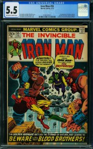 Iron Man #55 (Marvel, 1973) CGC Graded 5.5