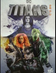 TITANS Promo Poster , 13 x 20,  2018, DC, Unused more in our store 074