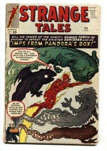STRANGE TALES #109 1963 comic book MARVEL-HUMAN TORCH-JACK KIRBY- VG-