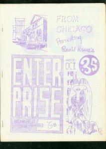 ENTERPRISE FANZINE #1 1968-SCHELLY-HAGENAUER-GB LOVE-   VG/FN