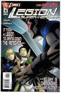 New 52 Legion of Super-Heroes #4 (DC, 2012) VF