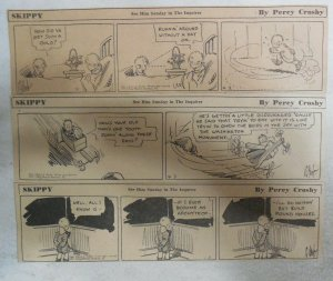 (181) Skippy Dailies by Percy Crosby from 1937 Size: 2 x 8 inches