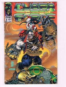 Cyber Force #3 VF Image Comics Comic Book Lee DE19