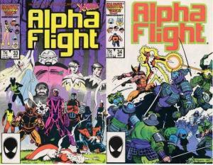 ALPHA FLIGHT 33-34  WOLVERINE,LADY DEATHSTRIKE VG-F