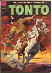 Tonto #11 1953-Dell-Lone Ranger's Indian Companion-excellent art-VG+
