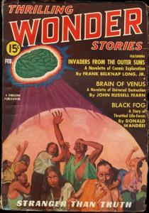 THRILLING WONDER STORIES--1937 FEB-WILD SCI-FI PULP VG+