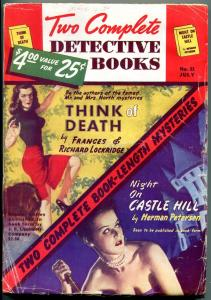 Two Complete Detective Books Pulp July 1948- Herman Petersen VG