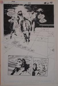 GENE COLAN / STEVE MITCHELL original art, SILVERBLADE #10 pg 28, 13x20,1987,End?