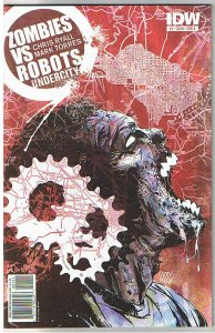 ZOMBIES vs ROBOTS UNDERCITY #1 B, NM+, 2011, IDW, Undead, more Horror in store