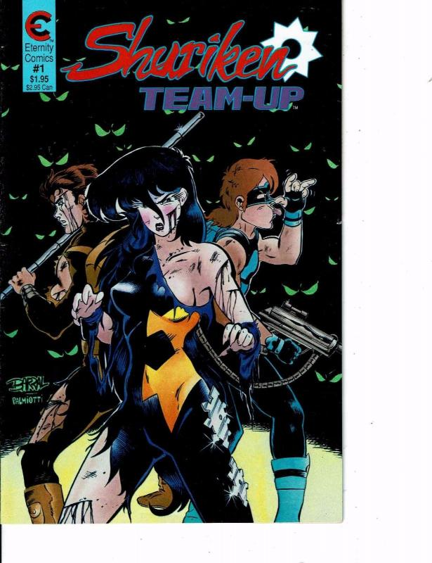 Lot Of 2 Comic Books Eternity Shuriken Team-Up #1 and Shuriken #1ON7