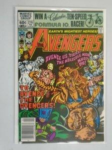 Avengers #216 featuring Silver Surfer Newsstand 8.5 VF+ (1981 1st Series)