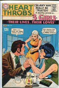 HEART THROBS #117 1968 DC-TORRID ROMANCE-GREAT ART G/VG