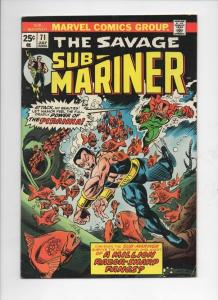 SUB-MARINER #71, FN, Tuska, Piranha, razor fangs, Marvel, 1968 1974, more in sto