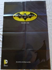 BATMAN DAY Promo poster, 22 x 33, 2015, DC,  Unused more in our store  023