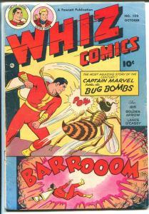 Whiz #150-1952-Fawcett-Capt Marvel -Bug Bomb-Ibis-Golden Arrow-VG