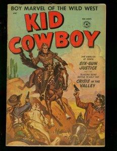 KID COWBOY #4 1954 ST JOHN --WESTERN--PAINTED COVER FN