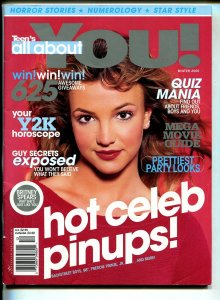 Teen's All About You-Winter 2000-Britney Spears-Backstreet Boys-98°-FN/VF