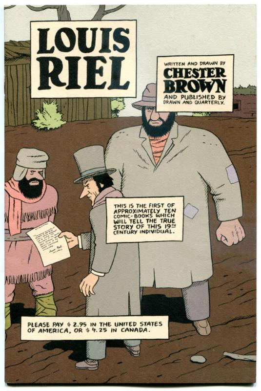 LOUIS RIEL #1, VF+, Chester Brown, Independent, 1999, more indies in store