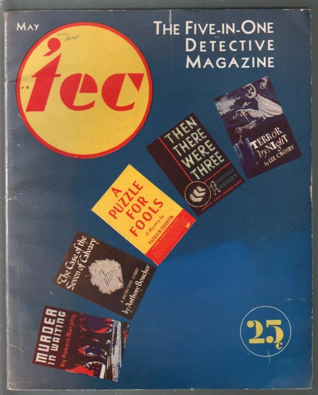 'tec #1 5/1939-1st issue-Patric Quentin-Anthony Boucher-Lee Crosby-FN