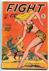Fight Comics #56 1948-Baker art- whip cover VG