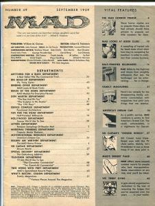 MAD MAGAZINE #49-1959-SID CAESAR-BOOK CLUBS SATIRE FR
