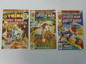 Marvel Team-Up featuring Ghost Rider 3 different issues average 7.0 FN/VF (1970s