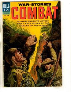 War-Stories Combat # 7 FN Dell Silver Age Comic Book Jungle New Guinea JL16