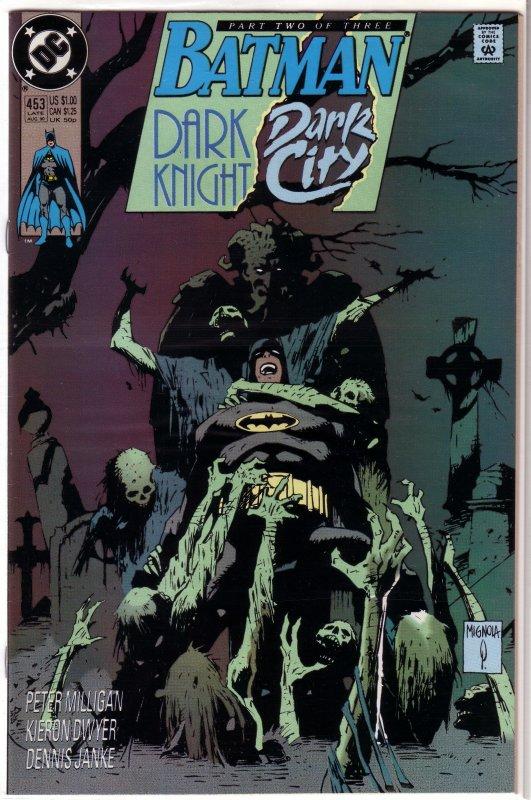 Batman   vol. 1   #453 VF (Dark Knight, Dark City 2) Milligan/Dwyer, Mignola