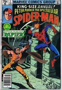 Spectacular Spider-Man Annual #2 ORIGINAL Vintage 1980 Marvel Comics 1st Rapier